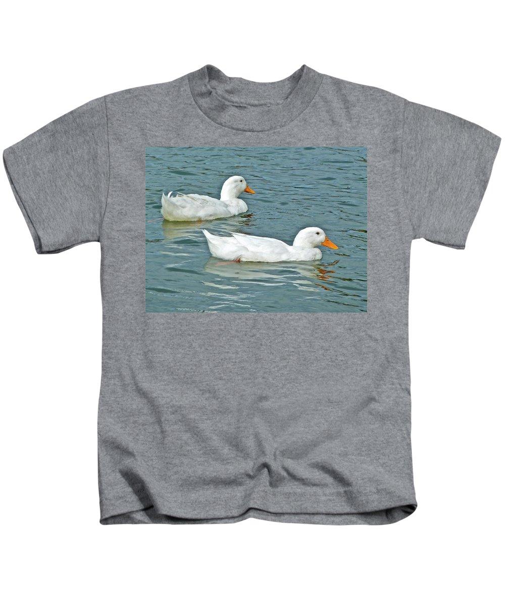 Birds Kids T-Shirt featuring the photograph Twins by Diana Hatcher