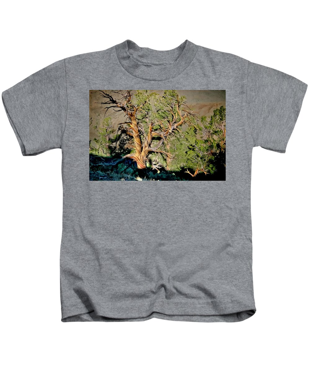 Bristlecone Kids T-Shirt featuring the photograph Twisted Bristlecone by Albert Seger