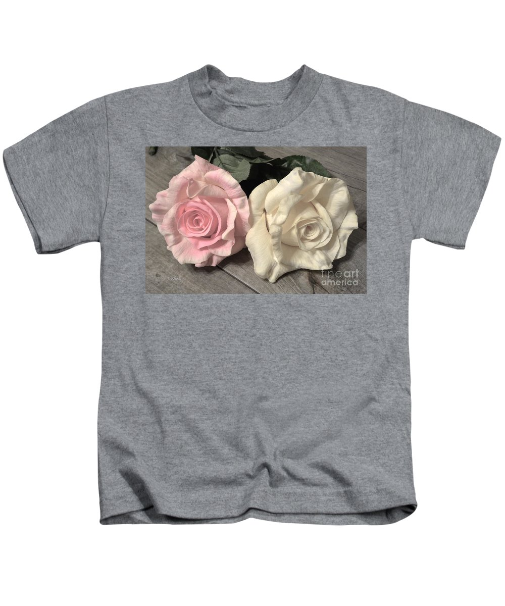 Two Roses Kids T-Shirt featuring the photograph Two Roses by Jeannie Rhode