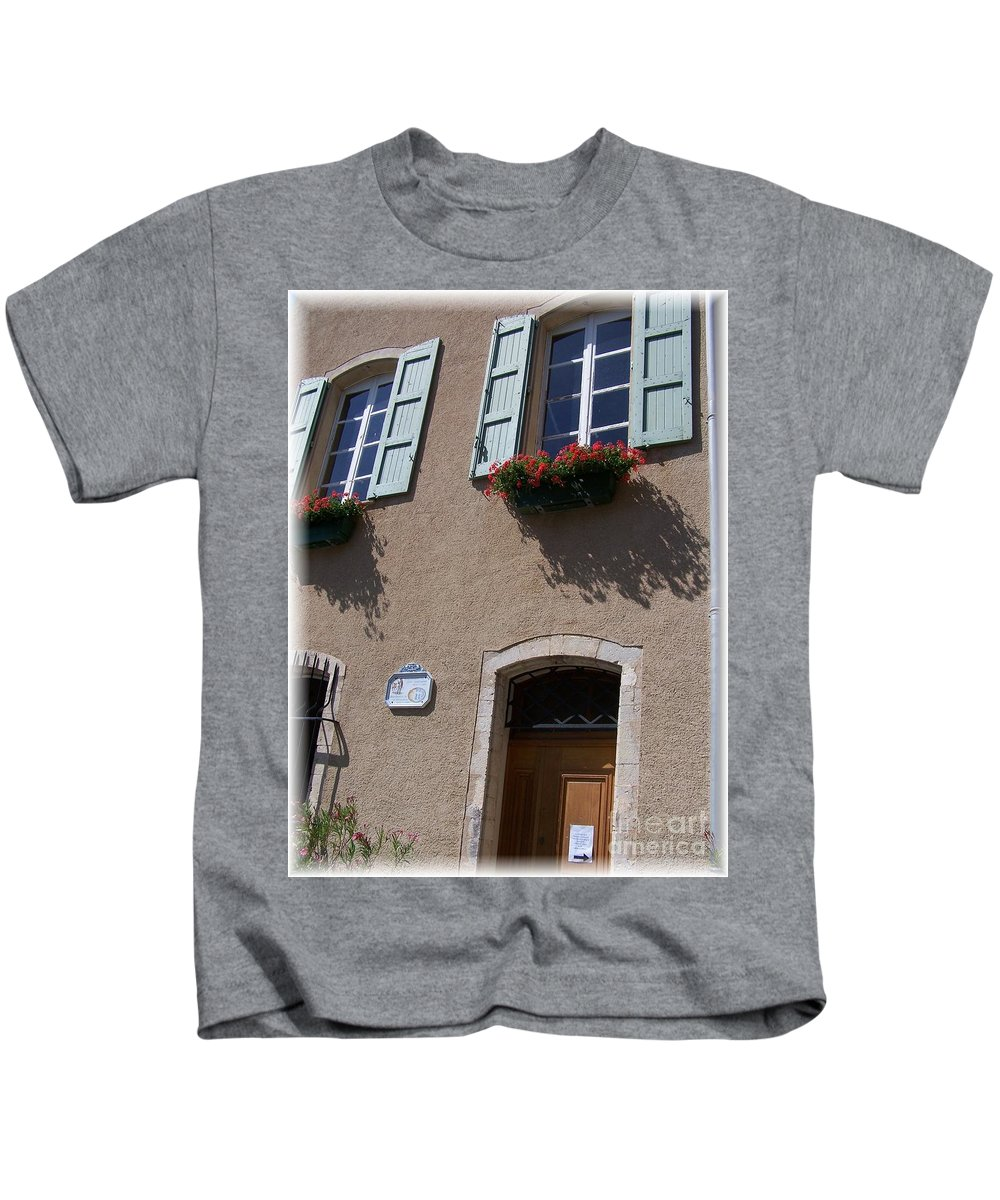 House Kids T-Shirt featuring the photograph Un Maison by Nadine Rippelmeyer