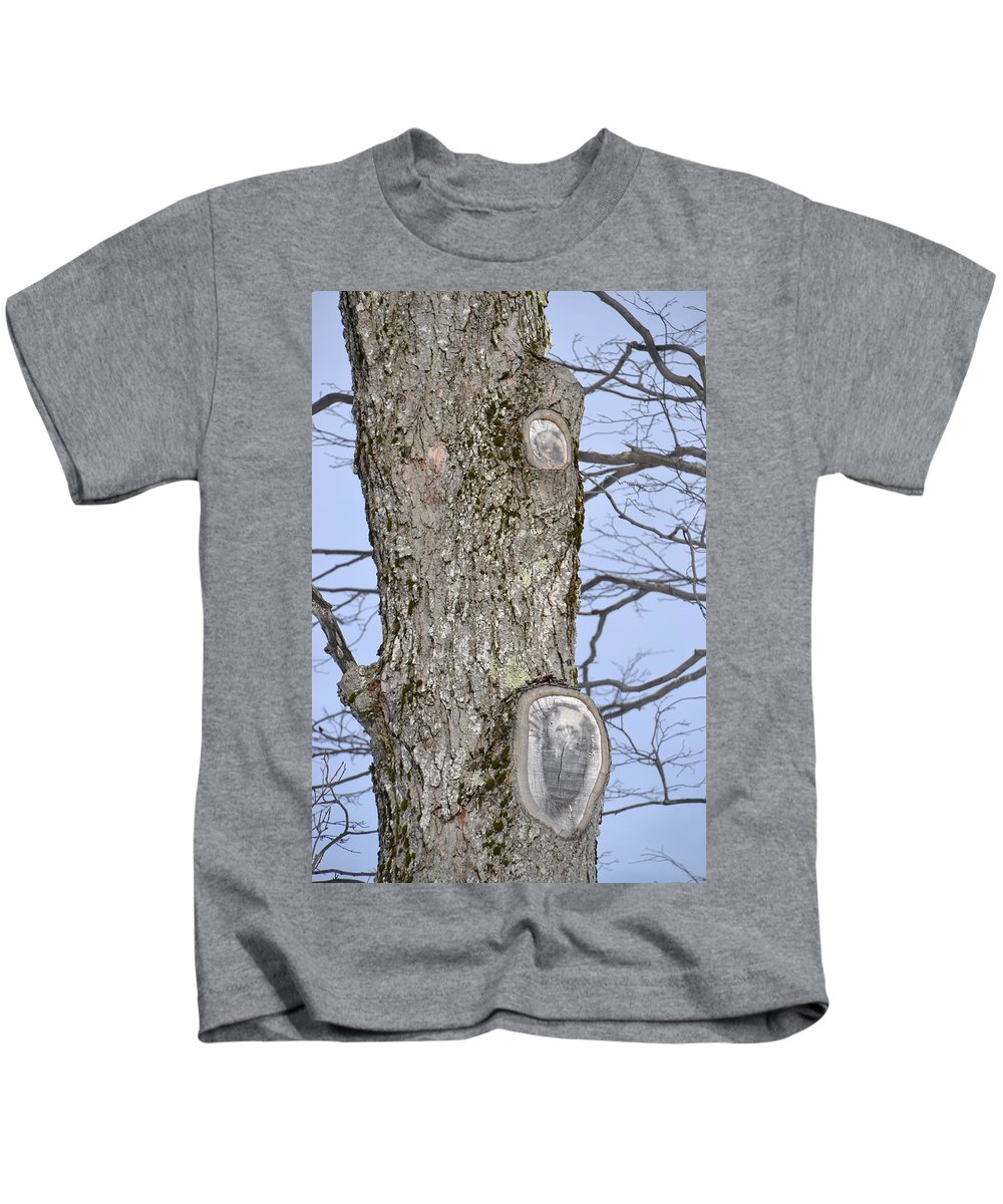 Tree Kids T-Shirt featuring the photograph Unexpectedly Panda by Katerina Naumenko