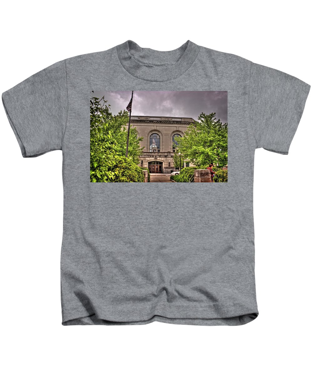 Joliet Kids T-Shirt featuring the photograph Union Station 1, Joliet, Illinois by Fred Hahn