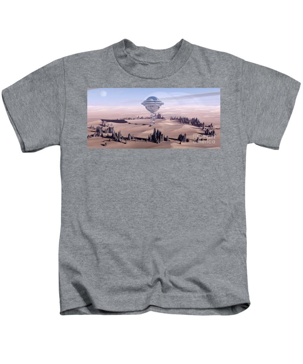 Surreal Kids T-Shirt featuring the digital art Universal Time by Richard Rizzo