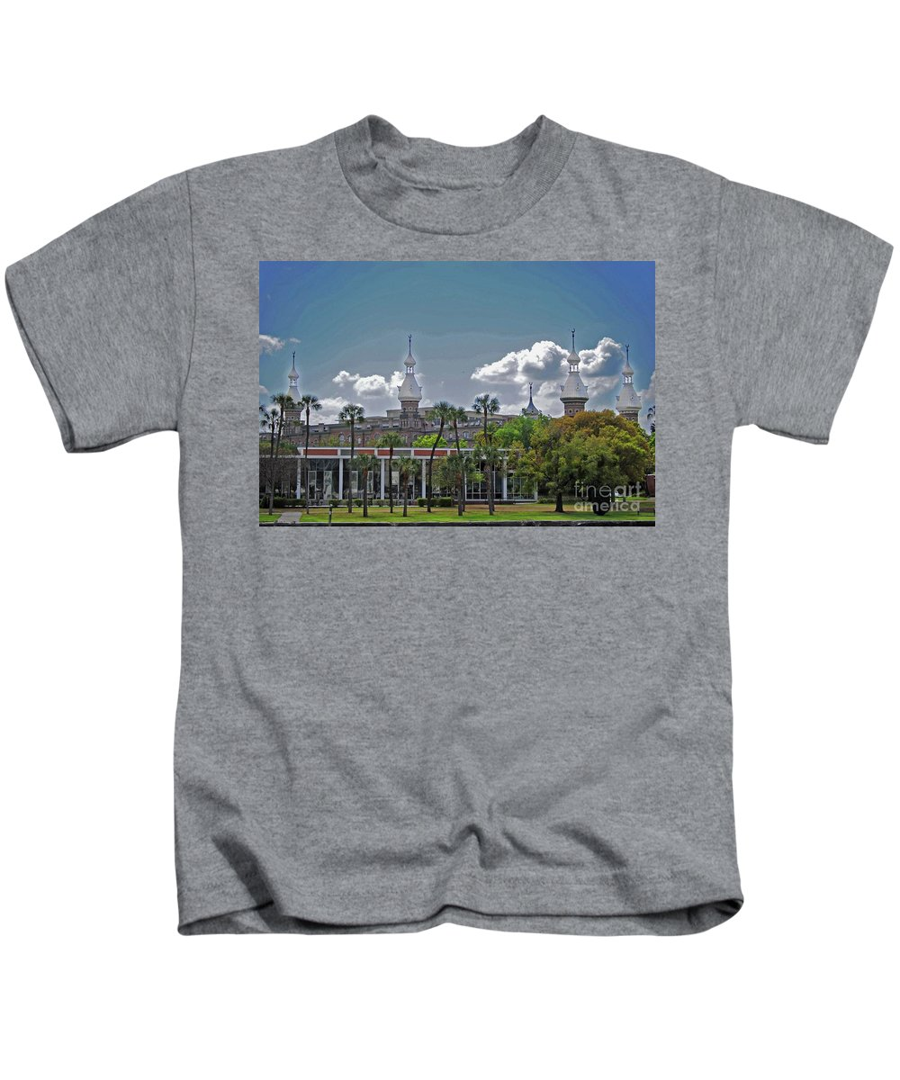 University Of Tampa Kids T-Shirt featuring the photograph University Of Tampa by Jost Houk