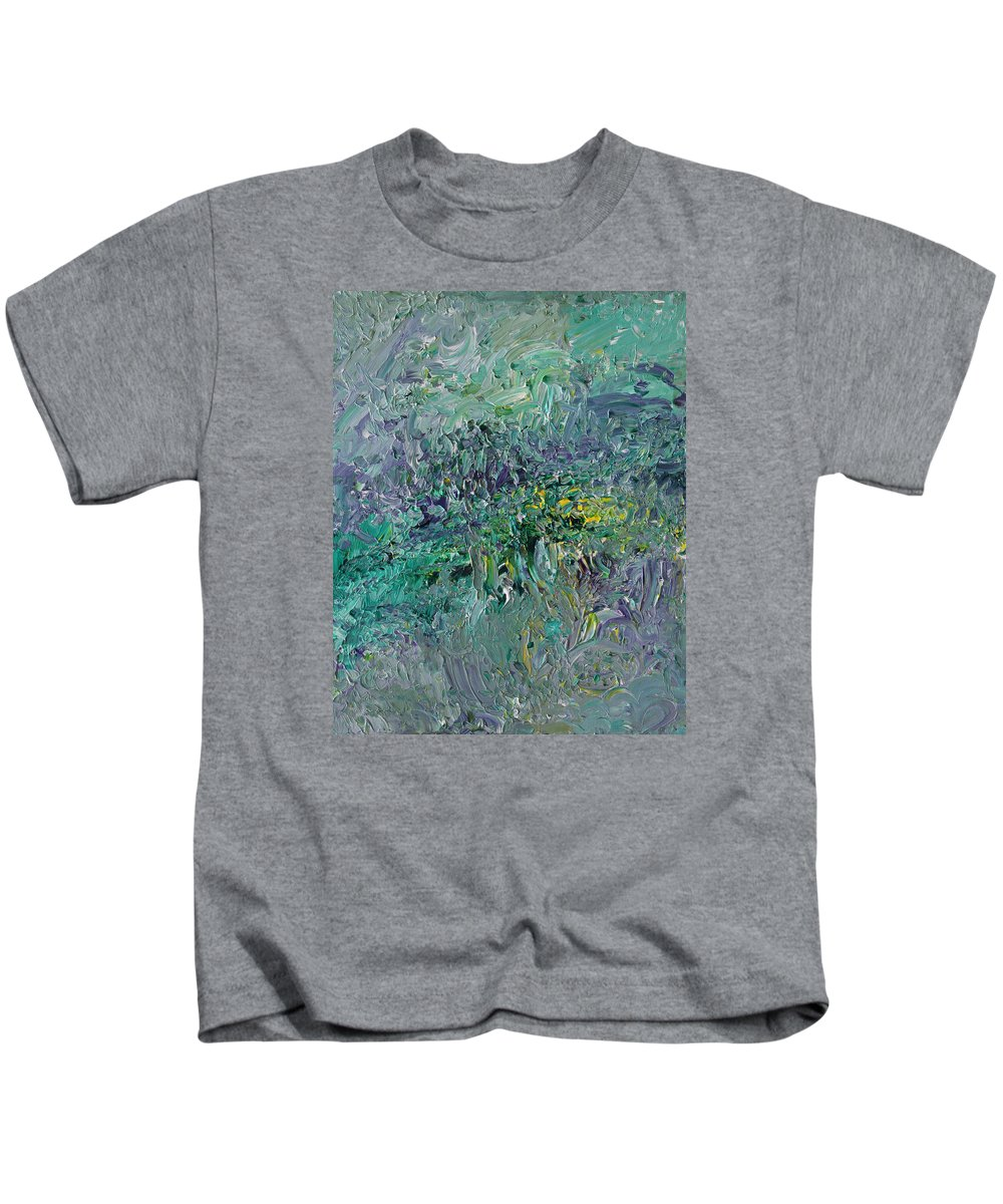 Fusionart Kids T-Shirt featuring the painting Blind Giverny by Ralph White