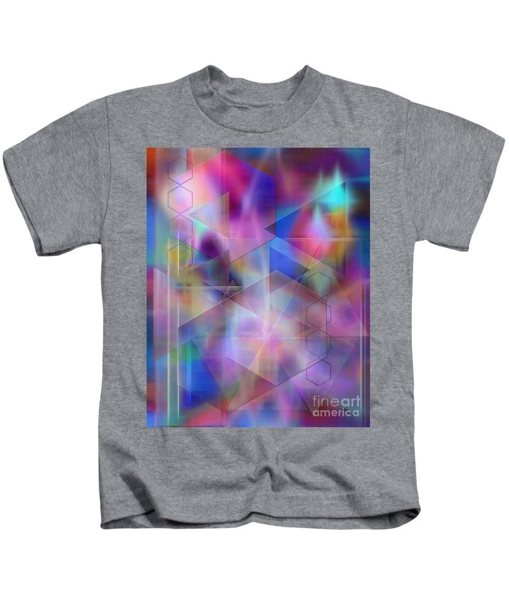 Usonian Dreams Kids T-Shirt featuring the digital art Usonian Dreams by John Beck