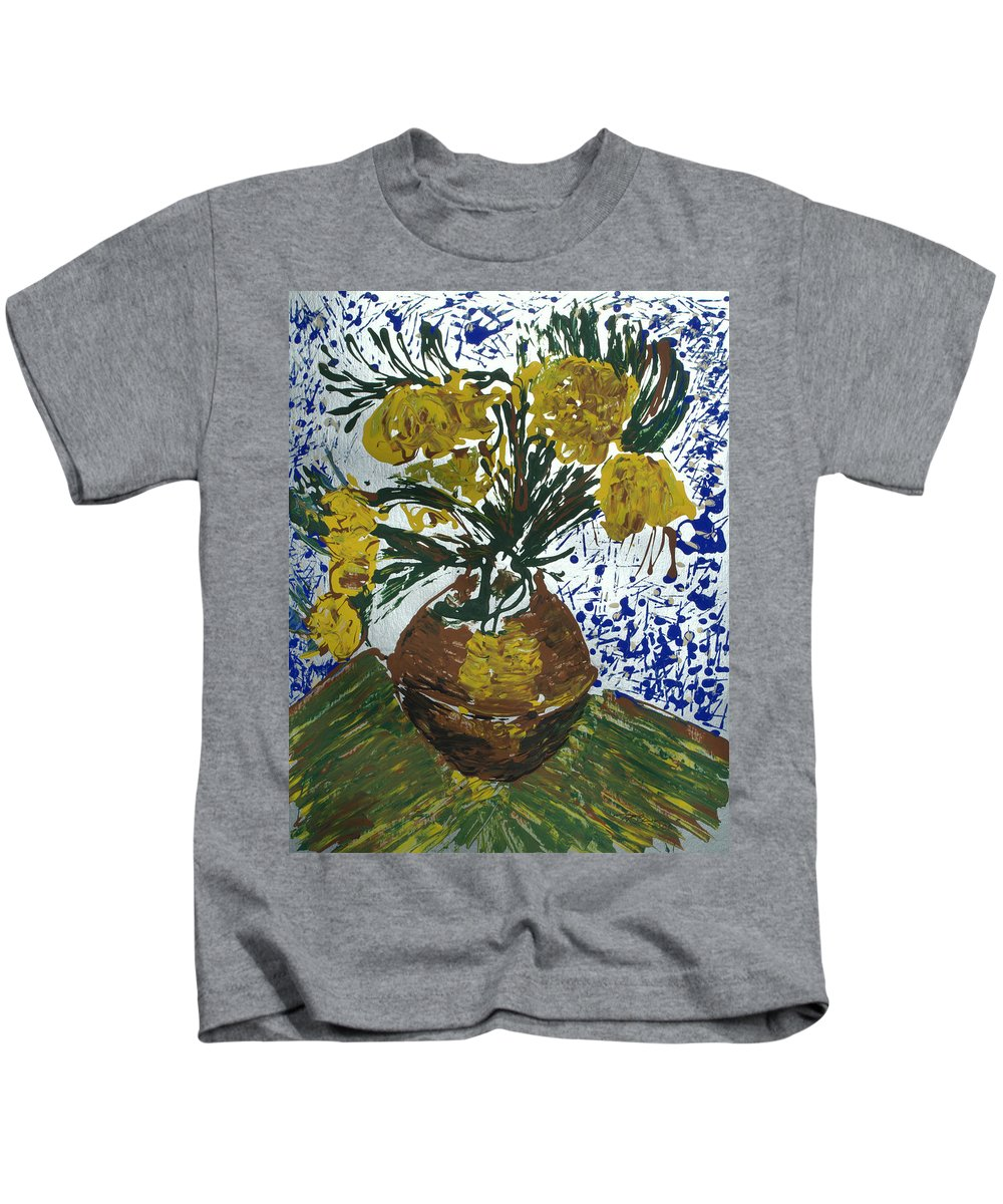 Flowers Kids T-Shirt featuring the painting Van Gogh by J R Seymour