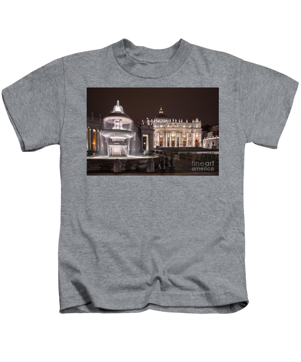 Vatica Kids T-Shirt featuring the photograph Vatican City by Valerio Poccobelli