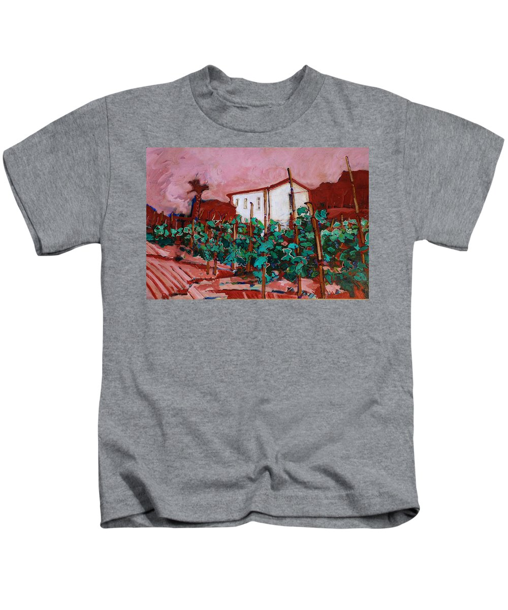 Tuscany Kids T-Shirt featuring the painting Vecchio Casa Di Pietro by Kurt Hausmann