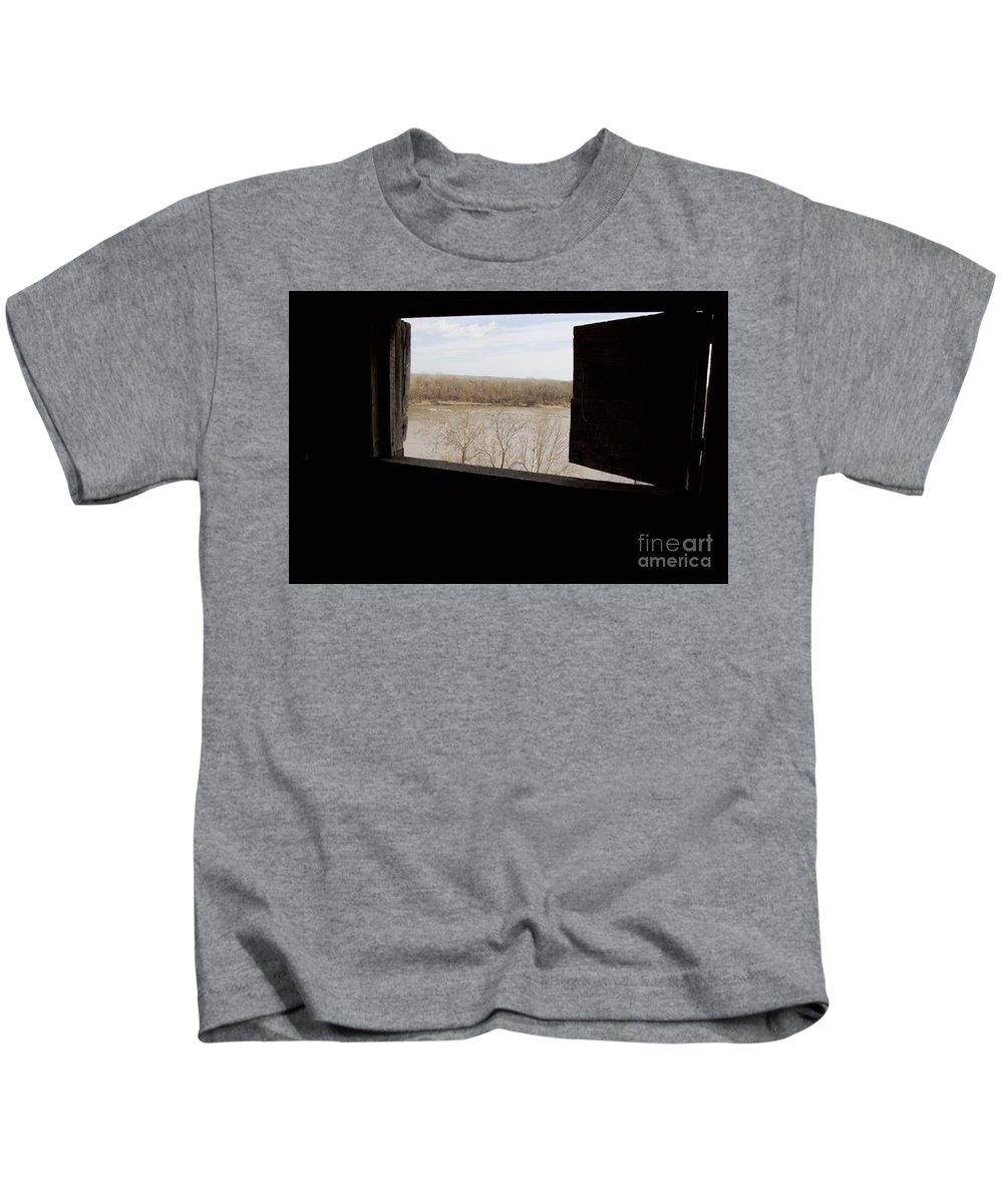 Fort Osage Kids T-Shirt featuring the photograph View From A Fort by John Franke