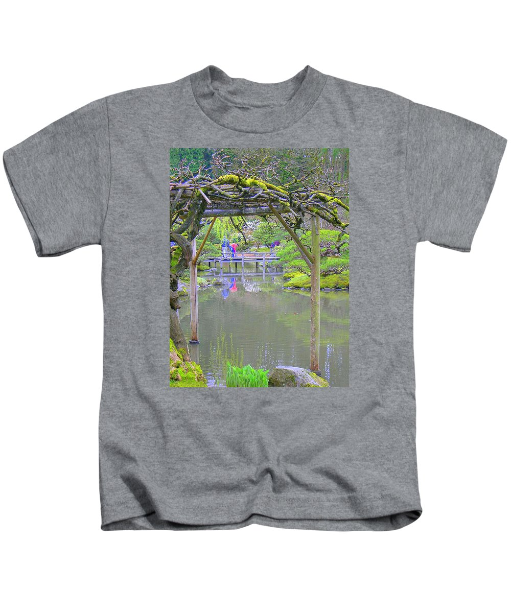 Japanese Kids T-Shirt featuring the photograph View From An Arbor by Maro Kentros