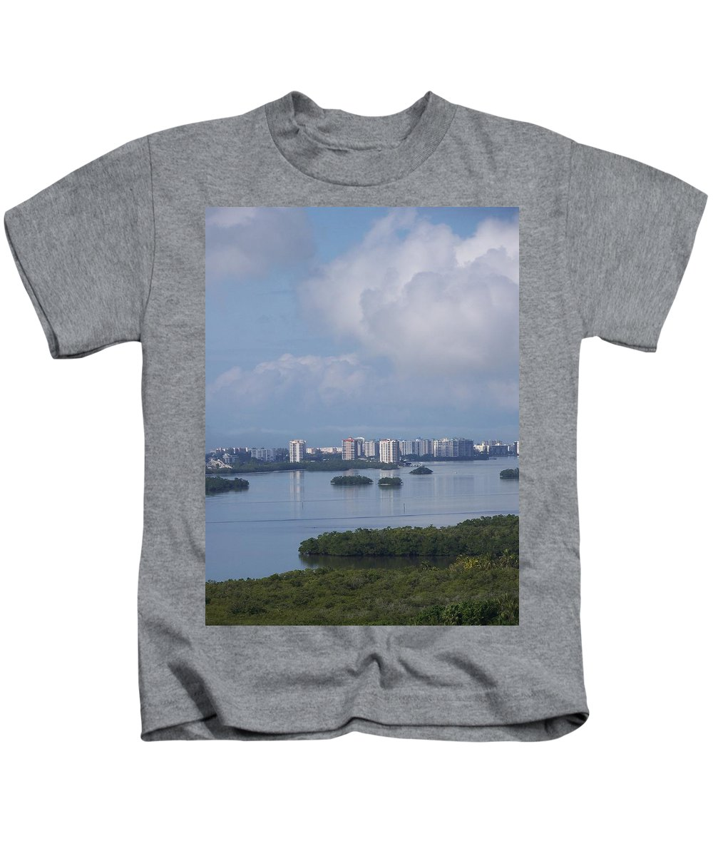 Fort Myers Beach Kids T-Shirt featuring the photograph View Of Fort Myers Beach by Laurie Paci