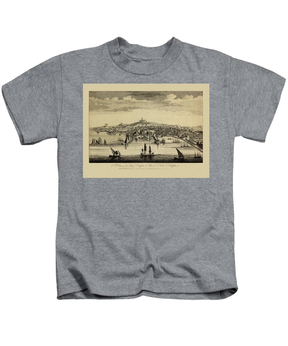 View Of Naples Kids T-Shirt featuring the photograph View Of Naples 1755 by Andrew Fare