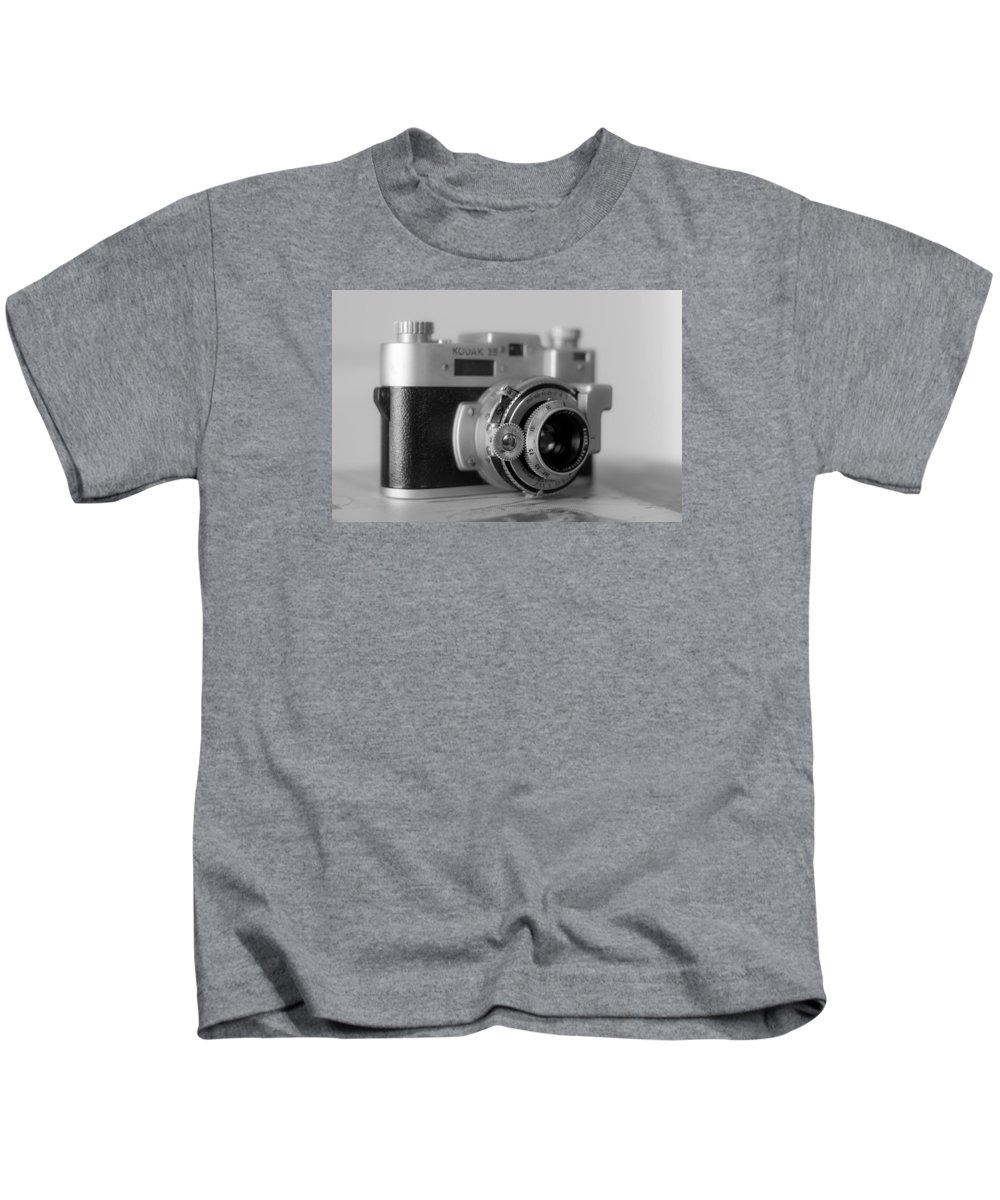 Vintage Camera Kids T-Shirt featuring the photograph Vintage Camera C20f by Otri Park