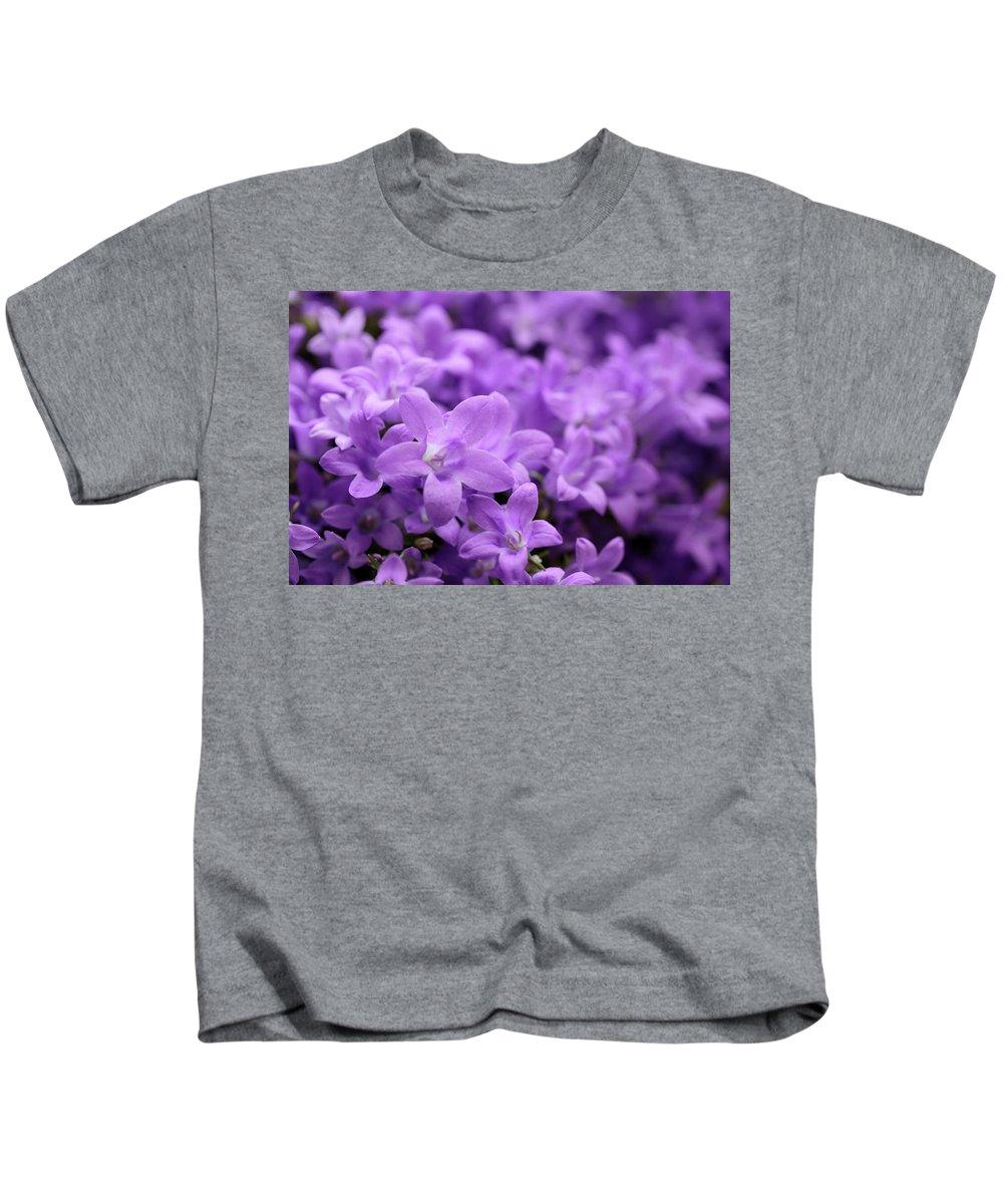 Horizontal Kids T-Shirt featuring the photograph Violet Dream V by Stefania Levi