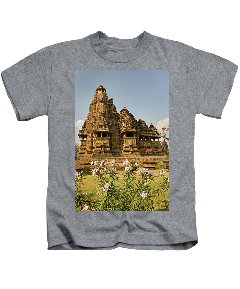 Vishvanatha Temple Kids T-Shirt featuring the photograph Vishvanatha Temple In Khajuraho by Aivar Mikko