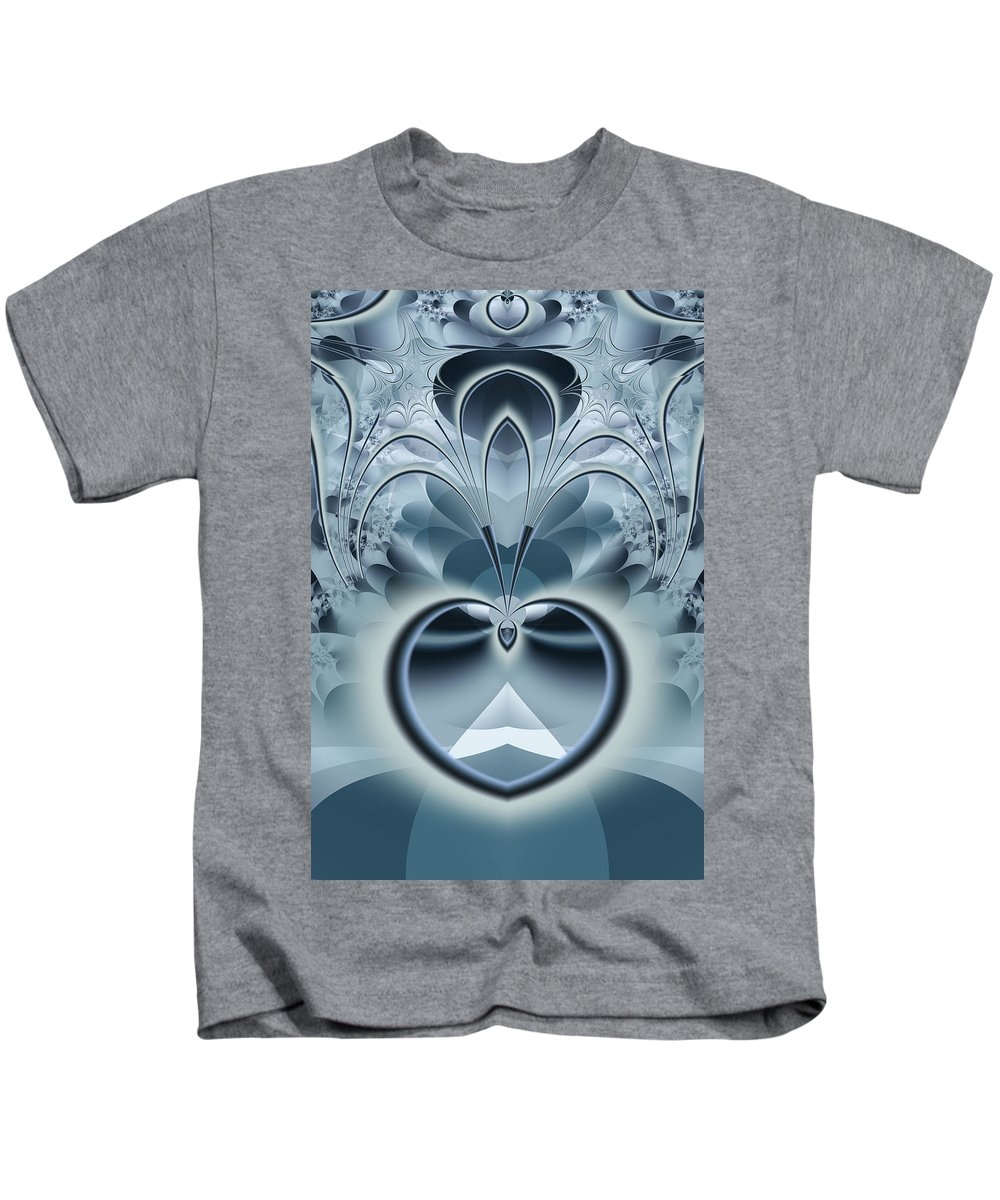 Fractal Kids T-Shirt featuring the digital art Vision by Frederic Durville