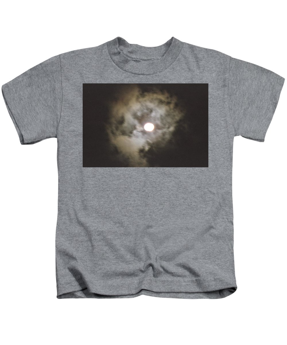 Vivid Kids T-Shirt featuring the painting Vivid Full Moon by Suzn Art Memorial