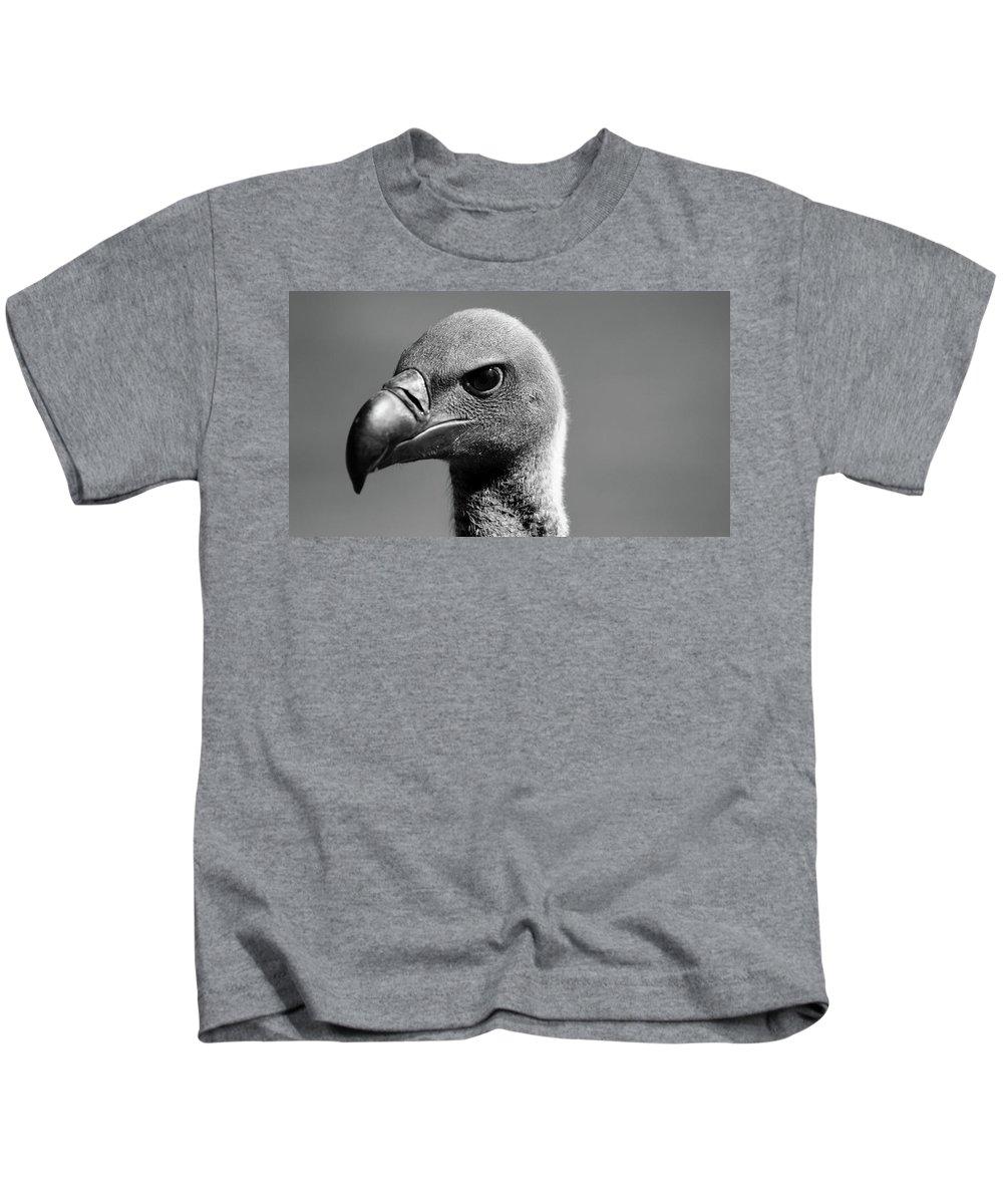 Bird Kids T-Shirt featuring the photograph Vulture Eyes by Martin Newman