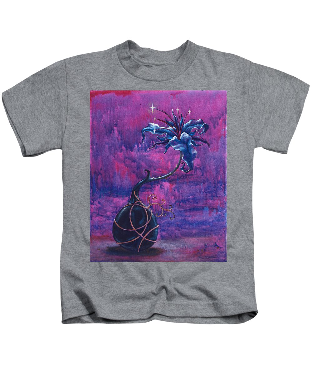 Lily Kids T-Shirt featuring the painting Waiting Flower by Jennifer McDuffie