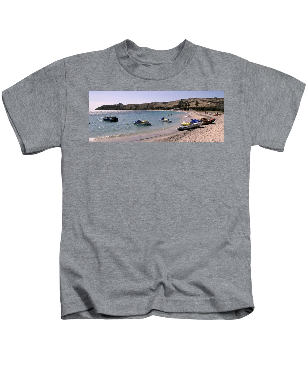 Beach Kids T-Shirt featuring the photograph Waiting For Customers by Ian MacDonald