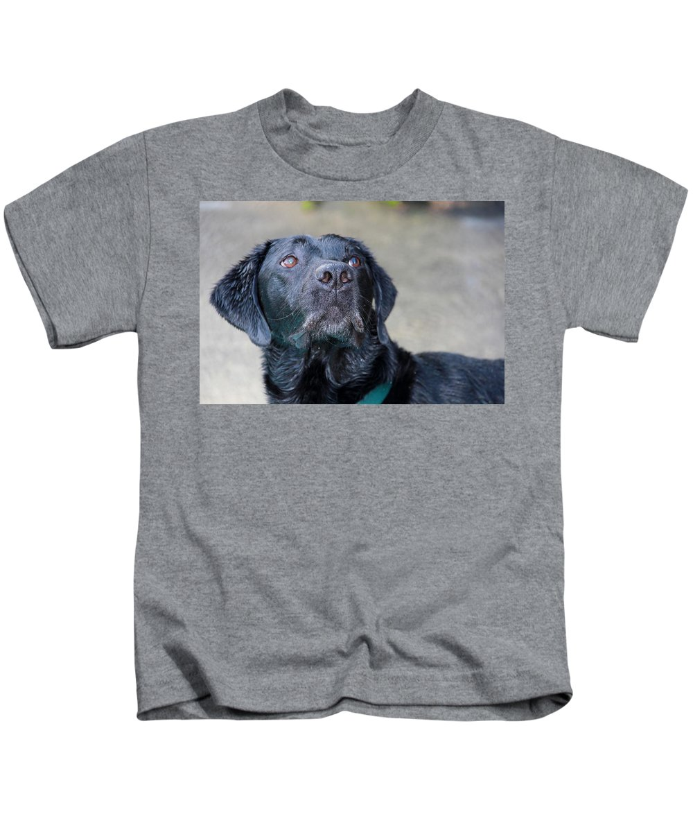Photograph Kids T-Shirt featuring the photograph Waiting On Your Command by Sheila Wedegis