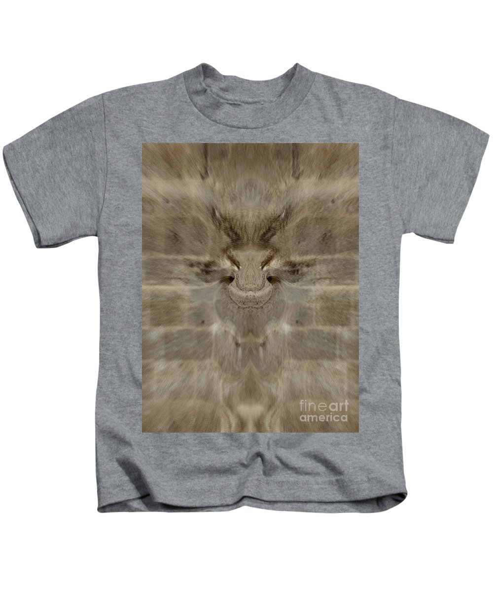 Abstract Kids T-Shirt featuring the photograph Wall Of Illusion by Samantha Joseph
