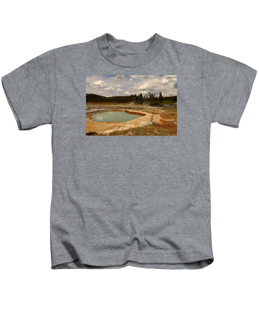 Park Kids T-Shirt featuring the photograph Wall Pool - Yellowstone Np by Christiane Schulze Art And Photography
