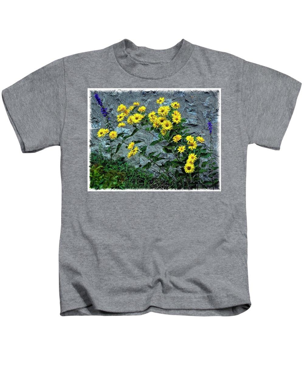 Flower Kids T-Shirt featuring the photograph Wallflower Ain't So Bad by Steve Harrington
