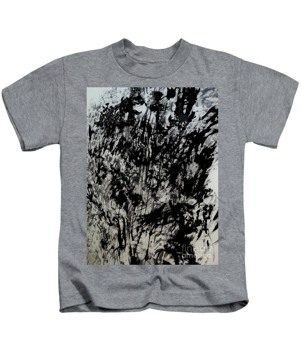 Art Kids T-Shirt featuring the mixed media War 3 by Nour Refaat