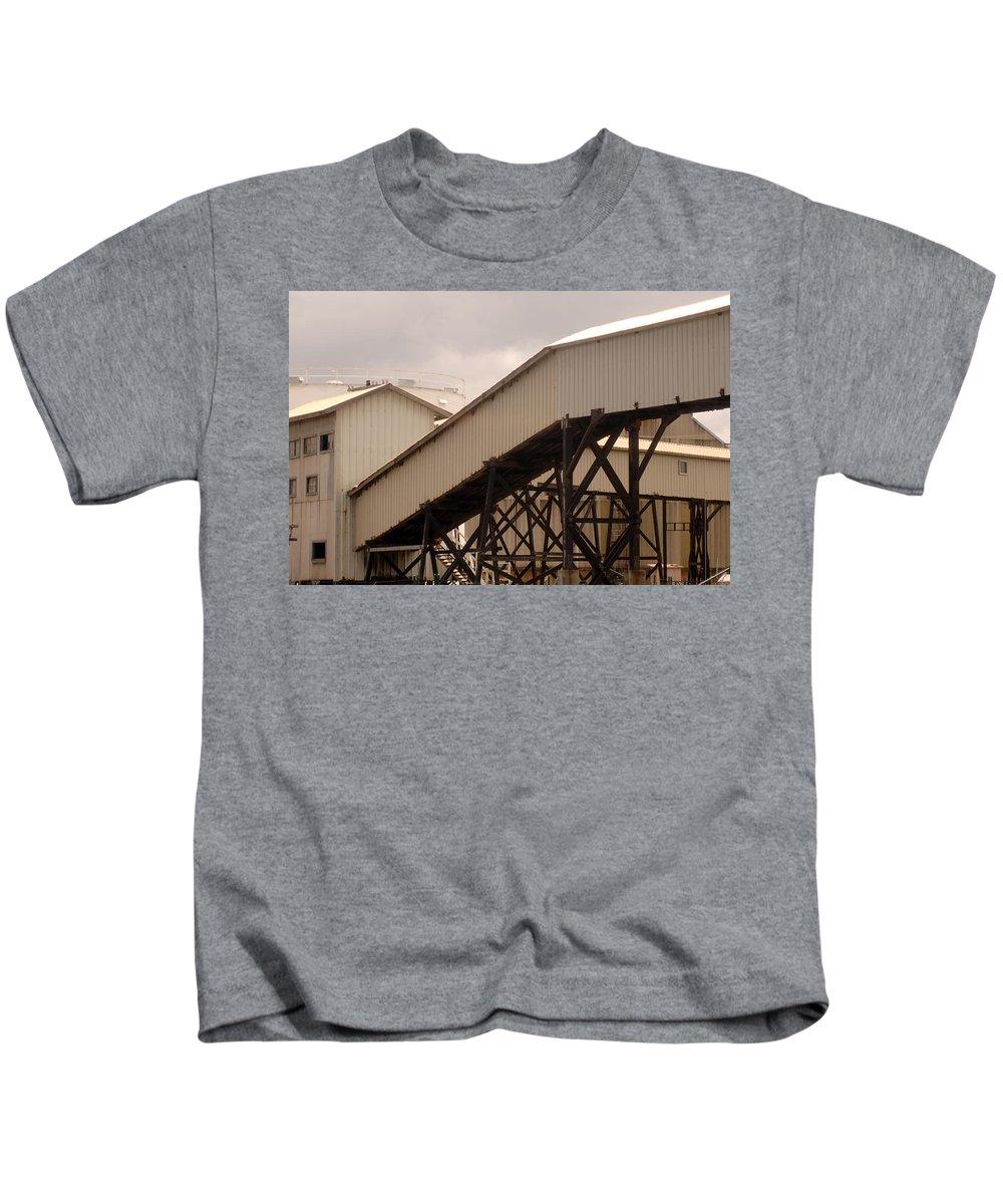 Urban Kids T-Shirt featuring the photograph Warehouse Passage by Jill Reger