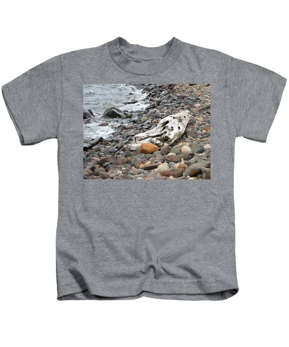Driftwood Kids T-Shirt featuring the photograph Washed Up by Kelly Mezzapelle