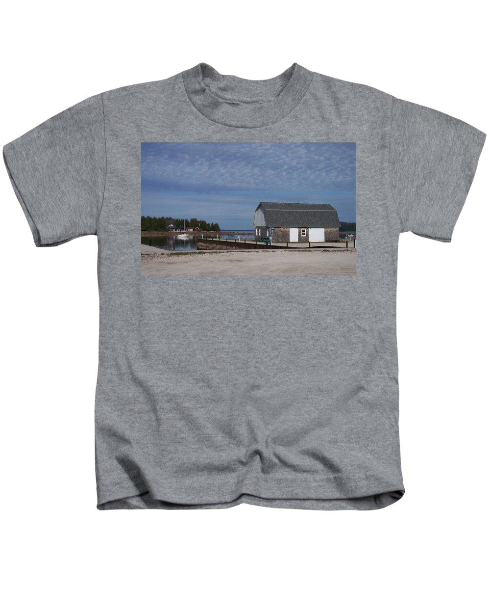 Washington Island Kids T-Shirt featuring the photograph Washington Island Harbor 1 by Anita Burgermeister