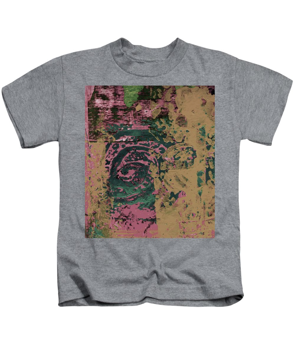 Abstract Kids T-Shirt featuring the painting Watching by Wayne Potrafka