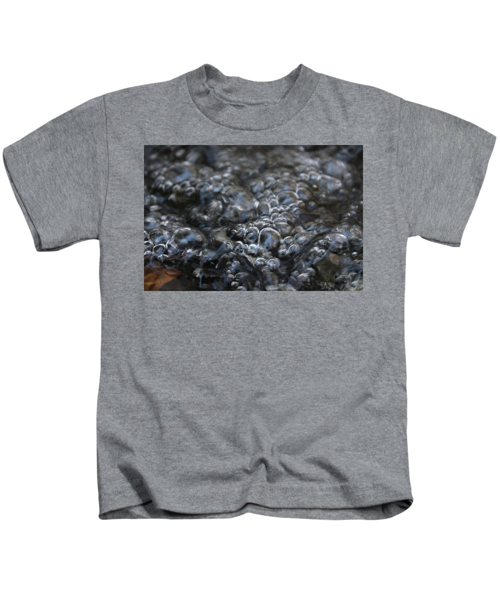 Water Bubbles Kids T-Shirt featuring the photograph Water Bubbles by Hunter Kotlinski