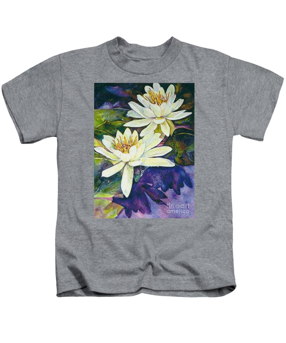 Flower Kids T-Shirt featuring the painting Water Lilies by Norma Boeckler