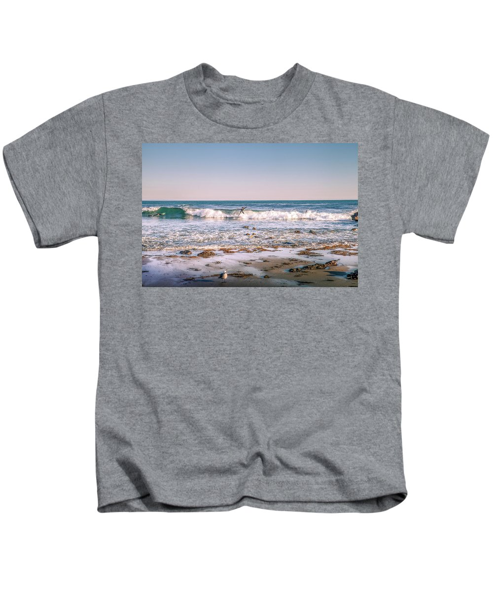 Surfer Kids T-Shirt featuring the photograph Water Walker by Gene Parks