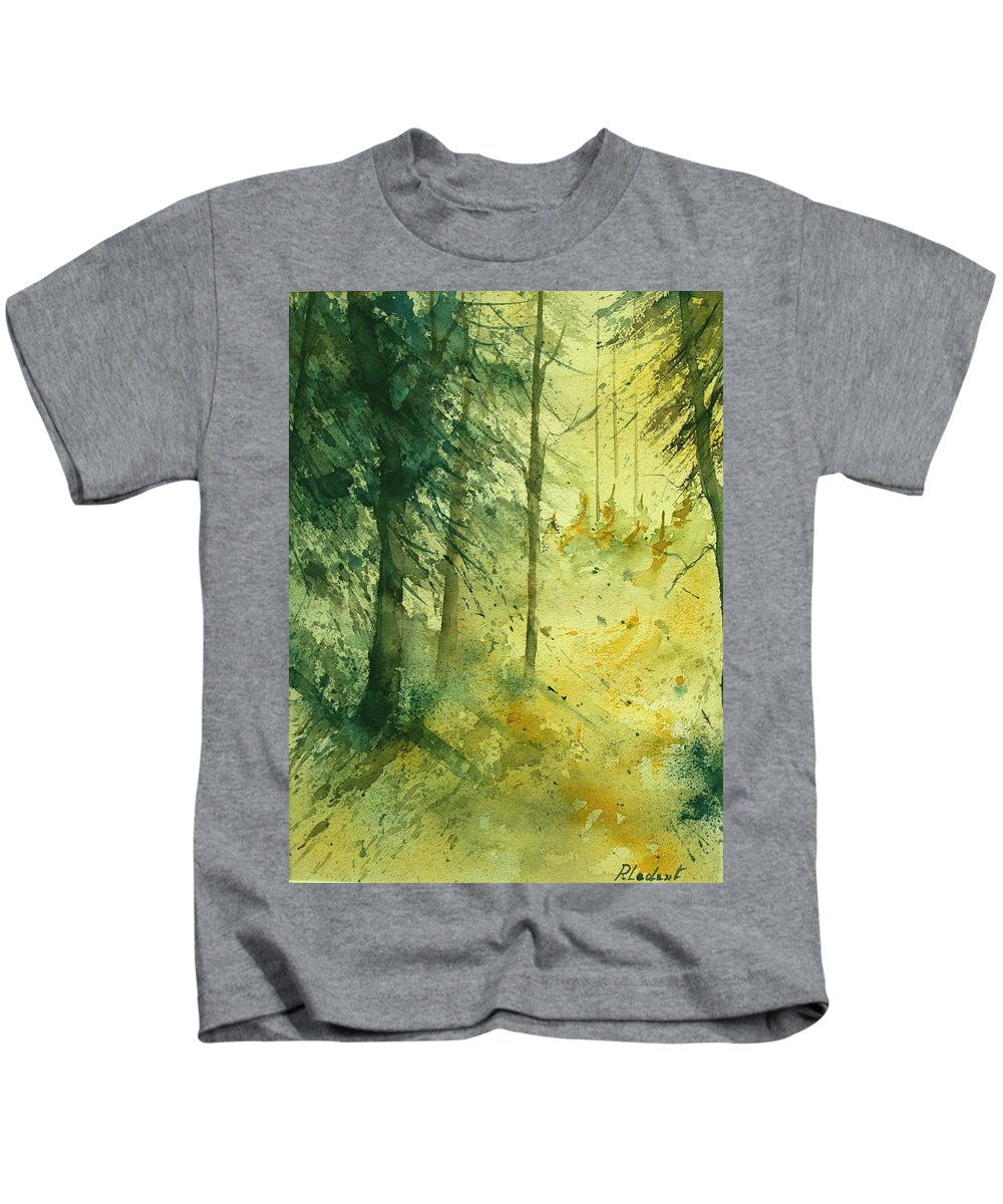 Tree Kids T-Shirt featuring the painting Watercolor 030106 by Pol Ledent