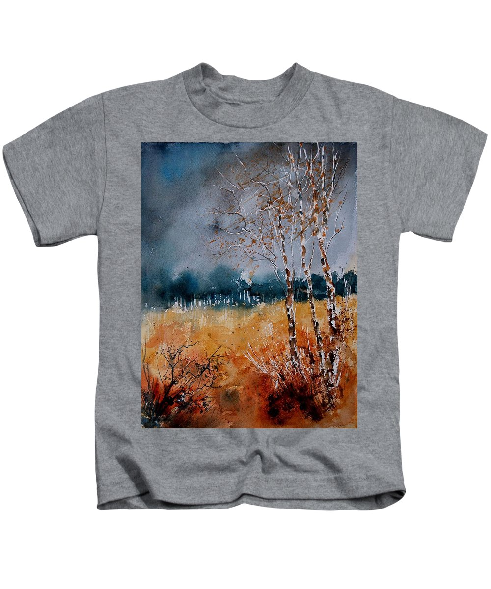 Tree Kids T-Shirt featuring the painting Watercolor 030308 by Pol Ledent