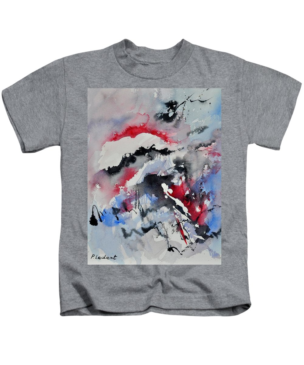Abstract Kids T-Shirt featuring the painting Watercolor 0410563 by Pol Ledent