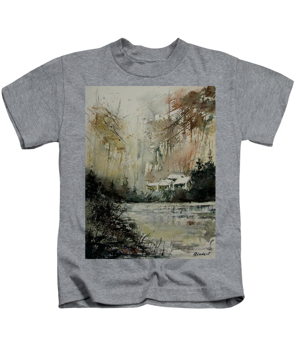 Landscape Kids T-Shirt featuring the painting Watercolor 070608 by Pol Ledent