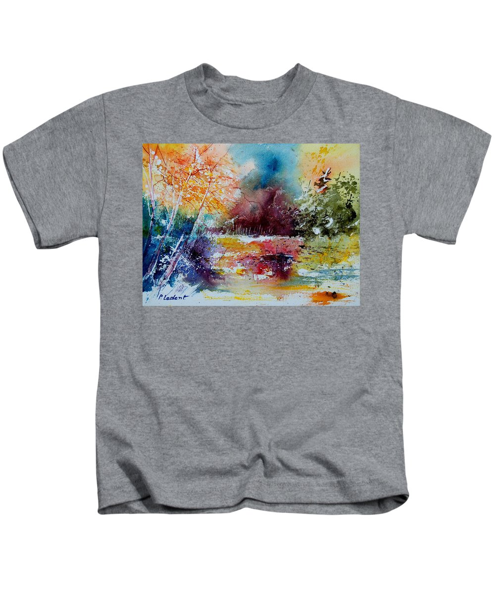Pond Kids T-Shirt featuring the painting Watercolor 140908 by Pol Ledent