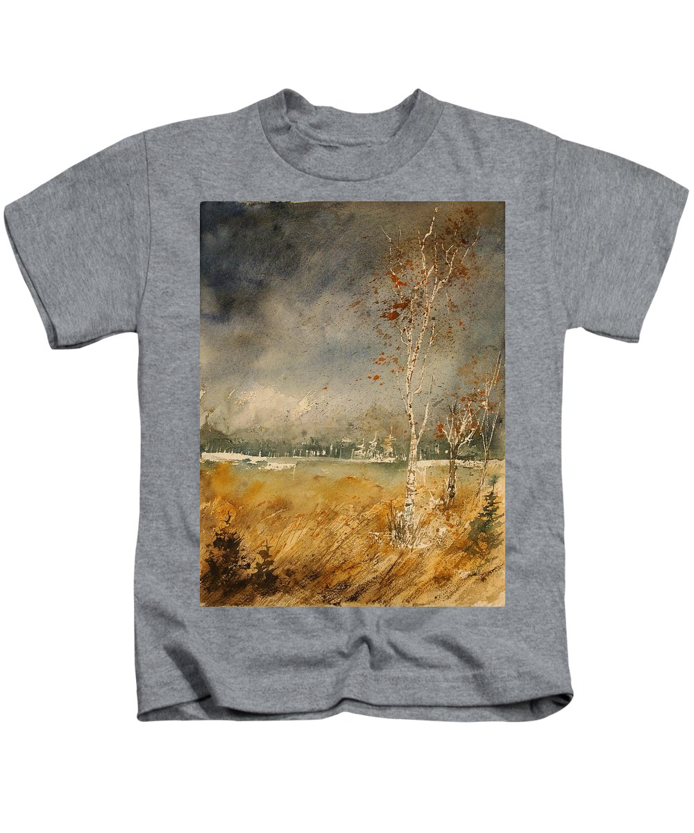 Tree Kids T-Shirt featuring the painting Watercolor 190307 by Pol Ledent