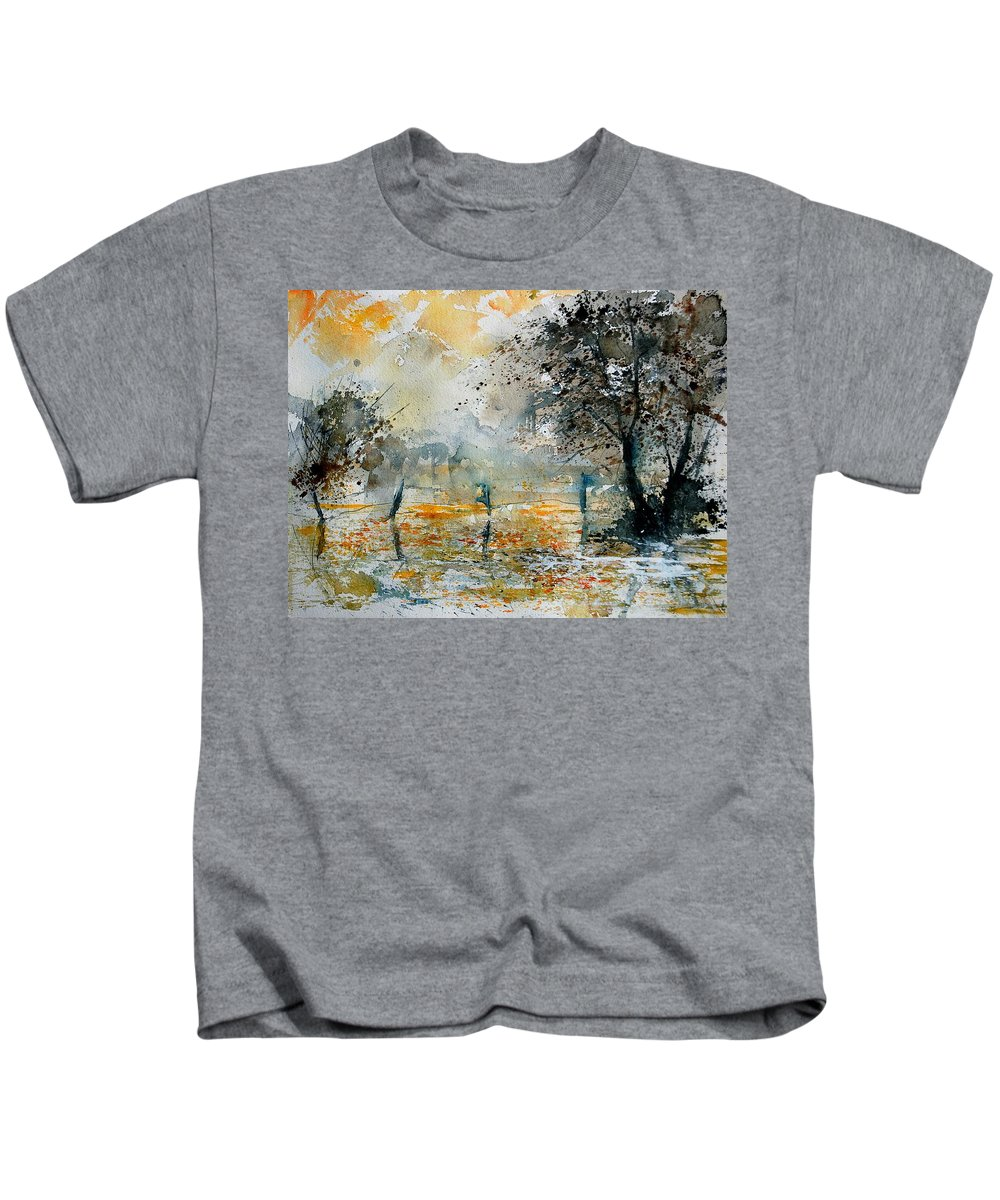 Water Kids T-Shirt featuring the painting Watercolor 261006 by Pol Ledent