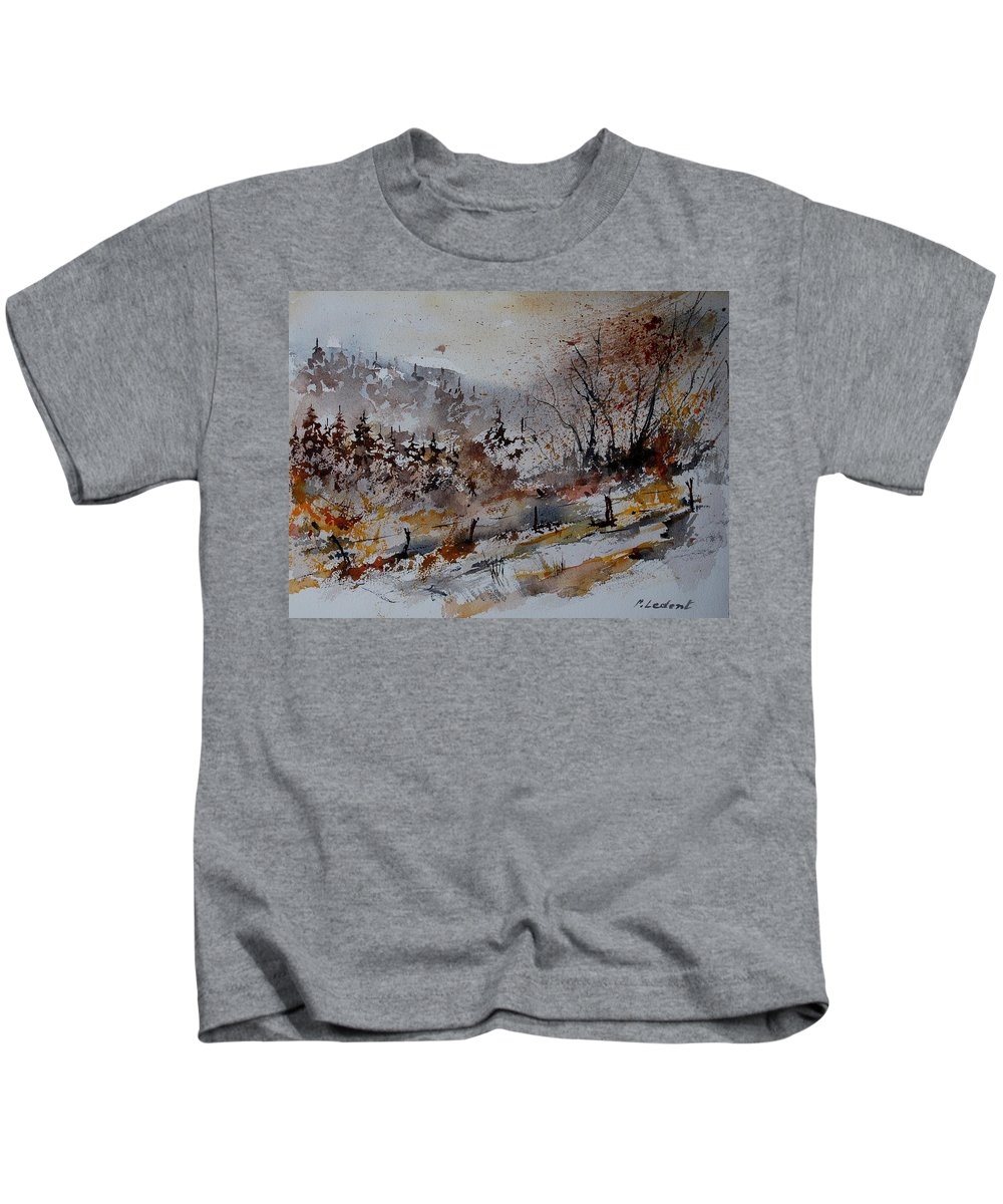 Landscape Kids T-Shirt featuring the painting Watercolor 900140 by Pol Ledent