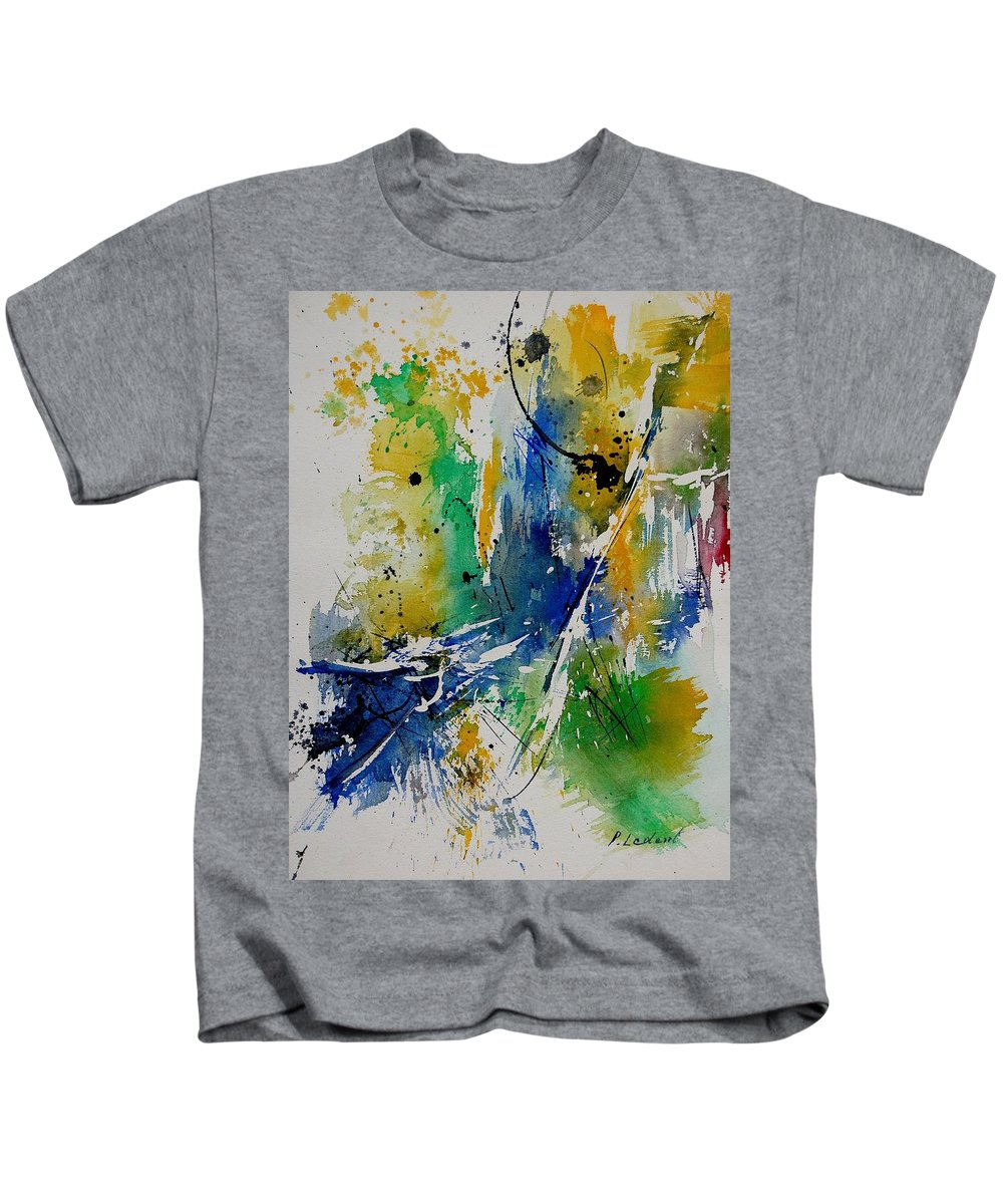 Abstract Kids T-Shirt featuring the painting Watercolor 902180 by Pol Ledent