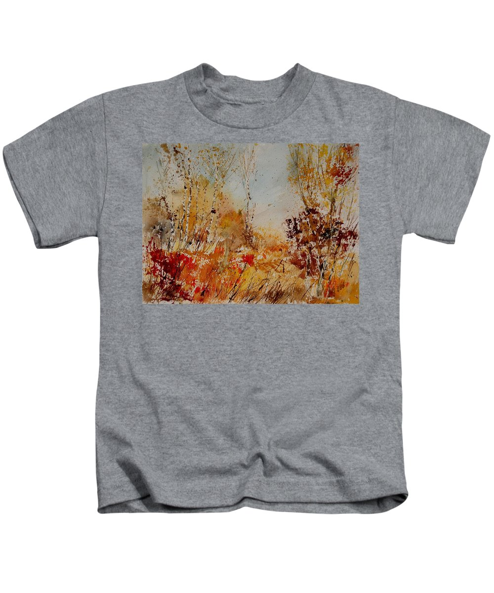Tree Kids T-Shirt featuring the painting Watercolor 908031 by Pol Ledent