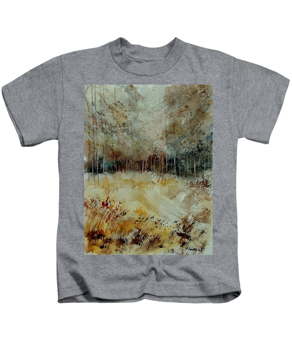 Tree Kids T-Shirt featuring the painting Watercolor 9090722 by Pol Ledent