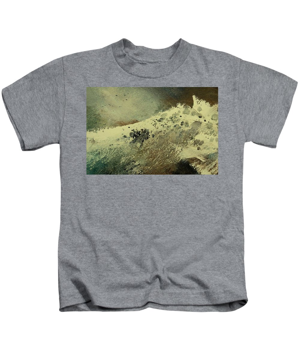 Sea Kids T-Shirt featuring the painting Wave by Pol Ledent