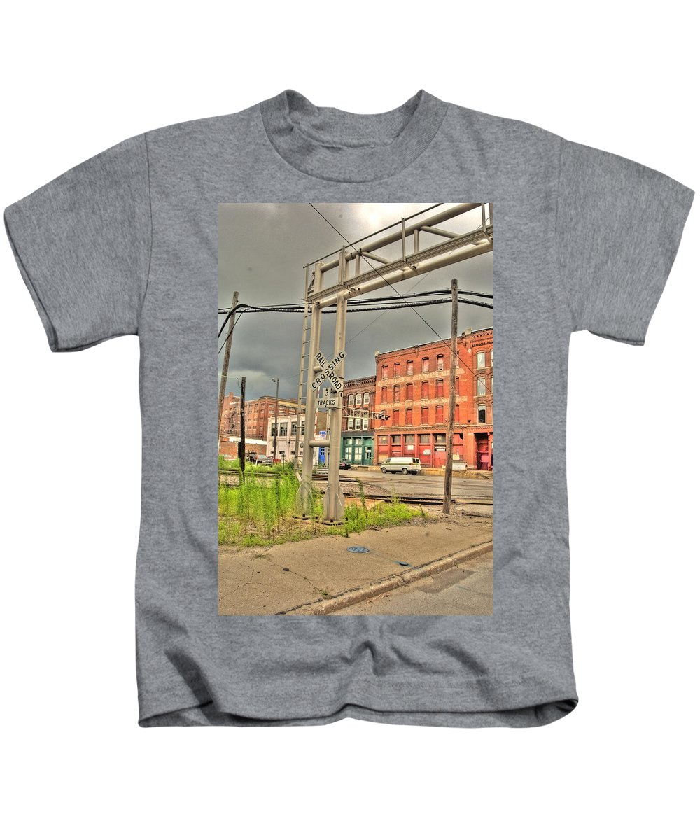 Hdr Kids T-Shirt featuring the photograph West Bottoms 7711 by Timothy Bischoff